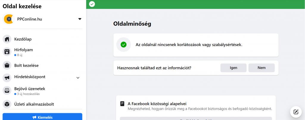 Facebook elérés javítása
